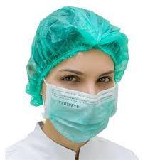 Touca cirúrgica feminina descartável